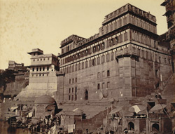 Baji Rao's and Chingna Apa's Ghats with the house called Lakshmanbala [Benares].
